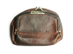 Old ladies leather purse - stock photo