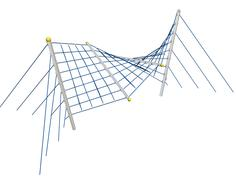 Play and climbing and crawling net, 3D illustration - stock illustration