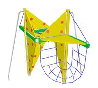 Play and climbing net, 3D illustration - stock illustration