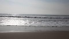 Ocean Waves - Pacific Ocean at Venice Beach, CA Stock Footage