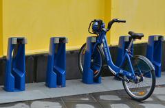 Melbourne bike share Stock Photos