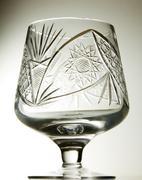 Crystal brandy glass Stock Photos