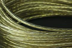 Golden wire coil Stock Photos
