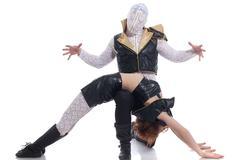 Kuva tanssija piilotettu kasvot ja hänen kumppaninsa Kuvituskuvat