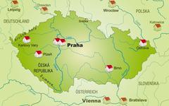 Stock Illustration of map of czech republic as an infographic