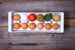 ways to manage food in the refridgerator - stock photo