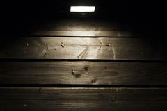 Stock Photo of halogen on wooden wall