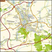 Map of erfurt Stock Illustration