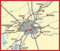 Stock Illustration of map of munich