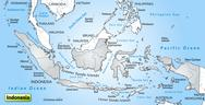 Stock Illustration of map of indonesia as an overview map in gray