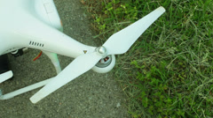 Propellor RC drone blade Stock Footage
