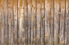 Wooden old cottage house wall Stock Photos
