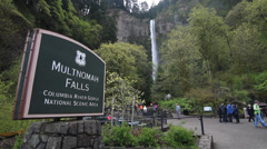 Multnomah Falls Stock Footage