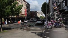 Bike street art in Portland 2 Stock Footage