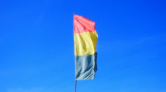 Flag waving on the wind Stock Footage