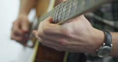 Guitar Close-Up Stock Footage