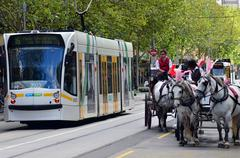 Stock Photo of melbourne tramway network