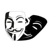 White mask anonymous vector Stock Illustration