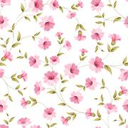 Pink flowers fabric. Stock Illustration