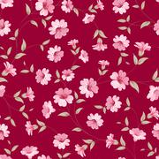 Flower samless pattern. - stock illustration