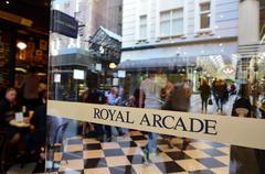 royal arcade - melbourne - stock photo