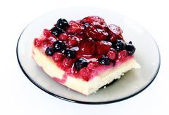 strawberry tart - stock photo