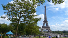 Tour of the Eiffel Tower, Timelapse Stock Footage