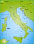 map of italy - stock illustration