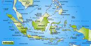 Stock Illustration of map of indonesia as an overview map in green