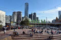 Stock Photo of federation square - melbourne
