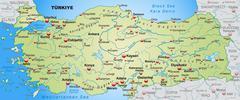 Map of turkey as an overview map in pastel green Stock Illustration