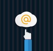 Stock Illustration of browser cloud in flat