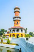 Stock Photo of tower in bang pa-in palace