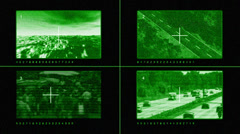 Surveillance Cameras Output Stock Footage