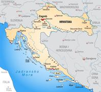 map of croatia - stock illustration