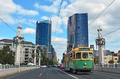 melbourne tramway network - stock photo