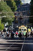 Melbourne - street scene Stock Photos
