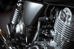 motorcycle kick-start pedal - stock photo