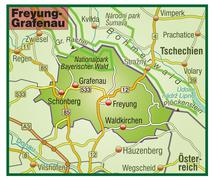 Map of freyung grafenau with highways Stock Illustration