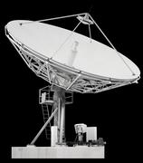 Large satellite dish parabolic antenna designed for transatlantic communicati Stock Photos