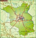 Map of brandenburg Stock Illustration