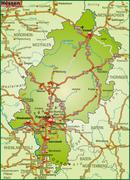map of hesse with highways - stock illustration