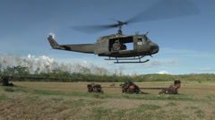 Philippine and U.S. Army Soldiers conduct air assault training Stock Footage