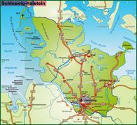 Map of schleswig-holstein Stock Illustration