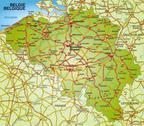 Map of belgium Stock Illustration