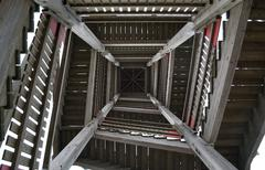 steps of the view tower - stock photo