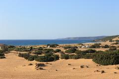 Sardinian desert - Piscinas/Sardegna/Italia Stock Photos