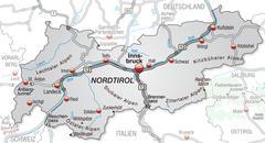 Stock Illustration of map of tyrol