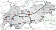 Map of tyrol Stock Illustration