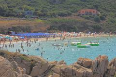 Rena Bianca beach - Santa Teresa/Sardegna/Italia Stock Photos